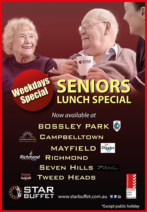 WEEKDAYS SENIORS LUNCH SPECIAL AT PARTICIPATED OUTLETS
