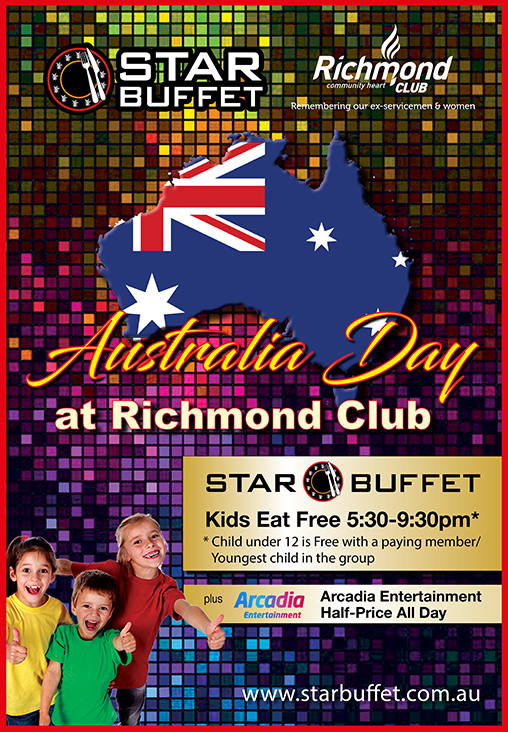 KIDS EAT FREE ON AUSTRALIA DAY AT STAR BUFFET RICHMOND