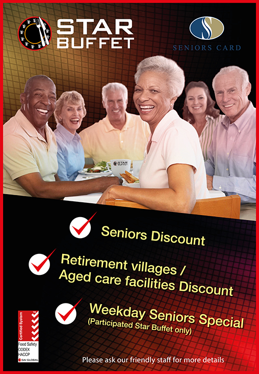 SENIORS SPECIAL AT STAR BUFFET