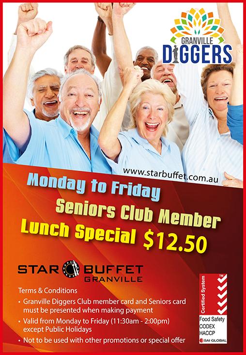 STAR BUFFET GRANVILLE - SENIORS CLUB MEMBER SPECIAL